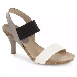 ANYI LU Bianca Two-Strap Sandal Taupe Black 8